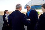 Secretary Kerry Chats With Ambassador Emerson Upon Arrival in Berlin (30629569743).jpg