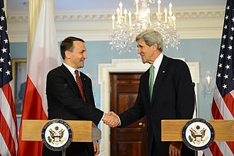 Radosław Sikorski - U.S. Secretary of State John Kerry and Radosław Sikorski in Washington, DC