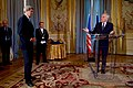 Secretary Kerry Listens as French Foreign Minister Jean-Marc Ayrault Prepares to Award him the Grand Officer of the Legion d'honneur in Paris (30744667993).jpg