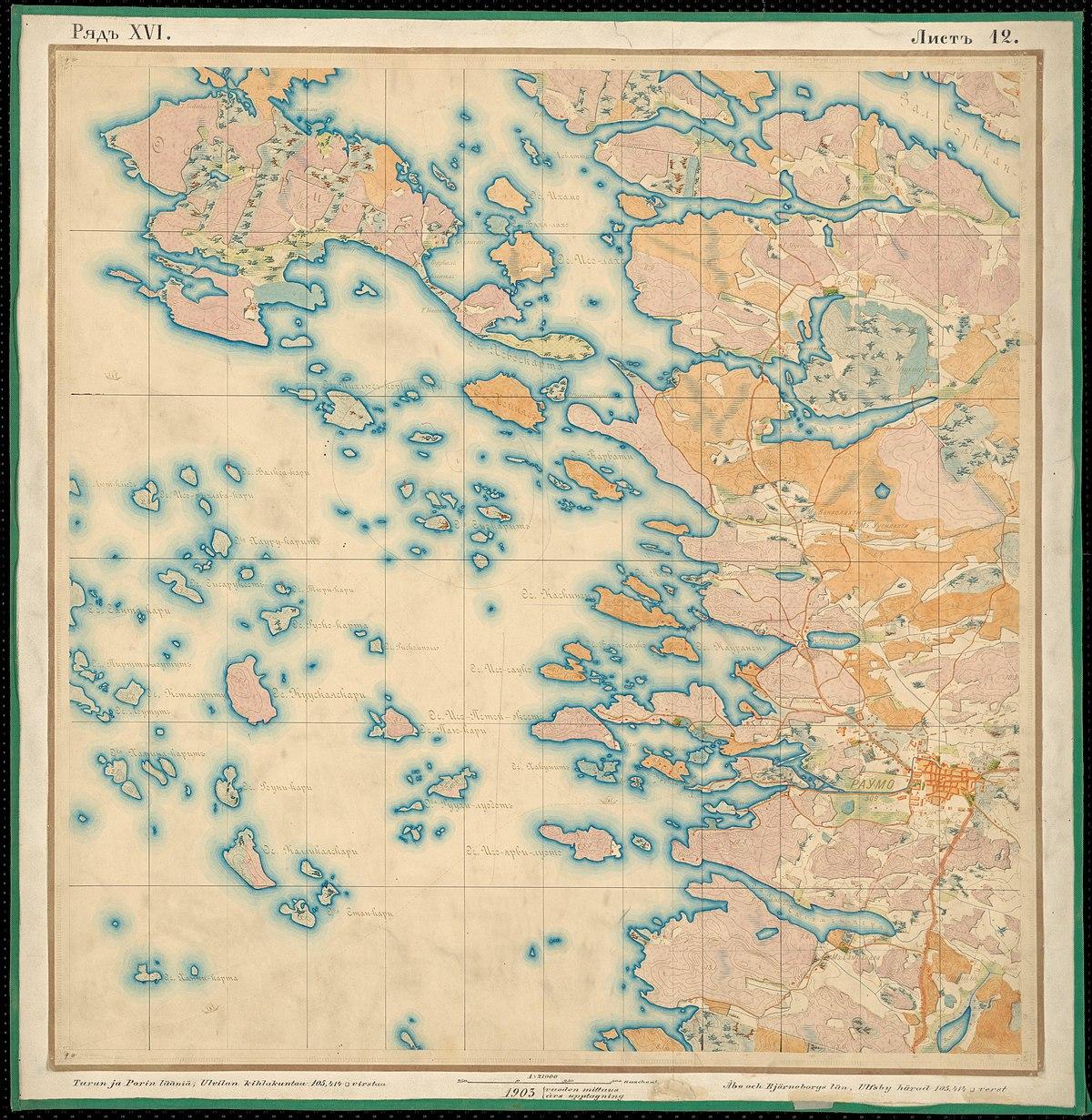 File Senate Atlas 1870 1907 Sheet Xvi 12 Rauma Jpg Wikimedia