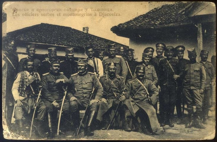 Serbian and Montenegrin officers in Đakovica, 1913