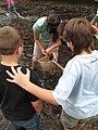 Service intern Danielle Crocker pulling out a crayfish (5029708624).jpg
