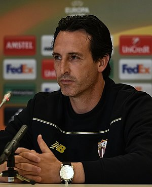 Unai Emery - Emery with Sevilla in 2016