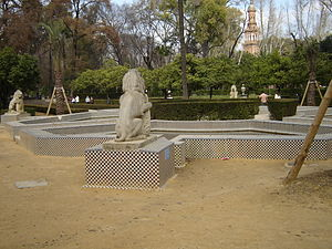 Maria Luisa Park - Fuente de los Leones, Fountain of the Lions