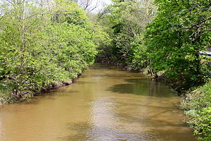 Shamokin Creek - Shamokin Creek looking downstream west of Elysburg, Pennsylvania