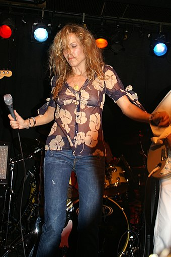 Six-time nominee, including one-time award winner Sheryl Crow Sheryl Crow 002.jpg