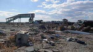 Shinchi, Fukushima - Shinchi Station after the 2011 earthquake and tsunami