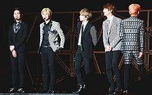 Shinee at the SMTown Live World Tour IV in Taiwan 05.jpg