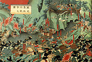 Both sides used guns at the final stand of the Battle of Shiroyama.