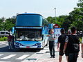 Shuttle Bus of Military Academy Open Day at Dadong Station 20140531.jpg