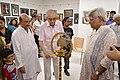 Shyamal Kumar Sen Lighting Inaugural Lamp - 43rd PAD Group Exhibition Inauguration - Kolkata 2017-06-20 0341.JPG