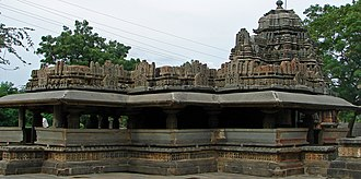 Western Chalukya architecture - Siddhesvara Temple at Haveri, a staggered square plan with dravida articulation and superstructure, 11th century CE