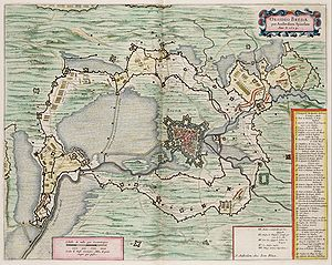 Siege of Breda (1624) - Map of the siege of Breda by Spinola. J.Blaeu.