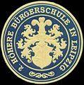 Siegelmarke 2. Höhere Bürgerschule in Leipzig W0356452.jpg