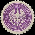 Siegelmarke Gemeindekasse der Bürgermeisterein Idenheim und Meckel W0343905.jpg