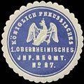 Siegelmarke K.Pr. 1. Oberrheinisches Infanterie Regiment No. 97 W0346836.jpg