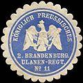Siegelmarke K.Pr. 2. Brandenburger Ulanen-Regiment No. 11 W0283661.jpg