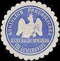 Siegelmarke K.Pr. Generalkommando VIII. Armeekorps W0387131.jpg