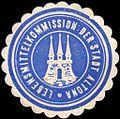 Siegelmarke Lebensmittelkommission der Stadt Altona W0217375.jpg