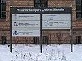 Signboard of the Wissenschaftspark Albert Einstein.JPG