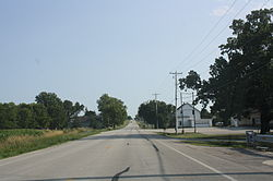 Looking south toward Silica, Wisconsin