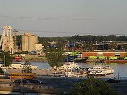 View of the Port Lands from St. Lawrence