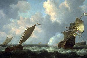 Simon de Vlieger - Marine met Nederlandse schepen.jpg