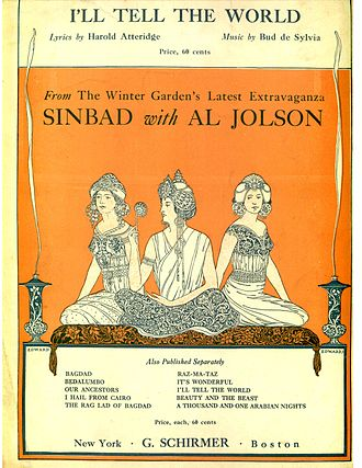 Sinbad (musical) - Sheet music cover (cropped)