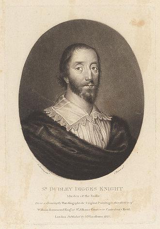 Charles Turner (engraver) - Engraving of Dudley Digges by Charles Turner