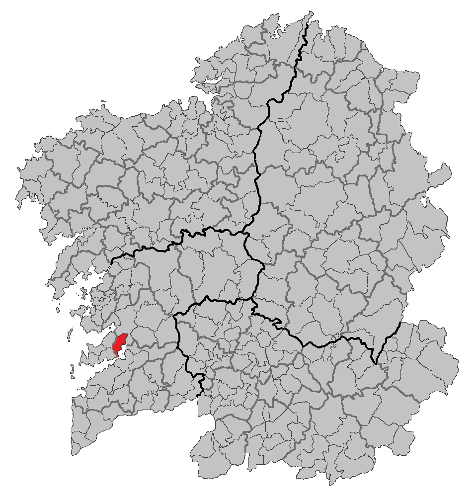 Situation of Vilaboa within Galicia