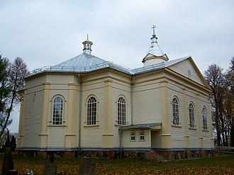 Skiemonys - Image: Skiemonių bažnyčia, galinis fasadas