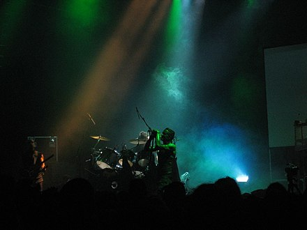 Skinny Puppy performing live at the London Astoria in 2005 Skinny Puppy live at London Astoria, August 10 2005 4.jpg