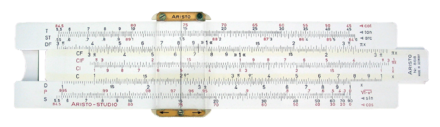 A slide rule. Sliderule 2005.png