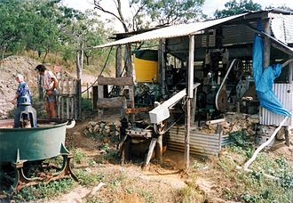 Coen, Queensland - Small gold mine near Coen. 1990
