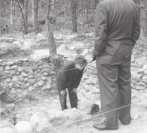 Samuel Smith Tavern Site - Smith Tavern excavation, c. 1970