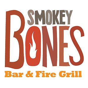 English: This is Smokey Bones Bar and Fire Gill's logo.