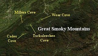 Wear Cove Valley in east Tennessee, USA