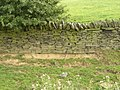 Soil erosion under wall at Upper Cote, Fixby - geograph.org.uk - 225381.jpg