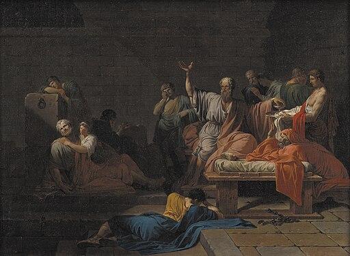 Sokrates' død i fængslet