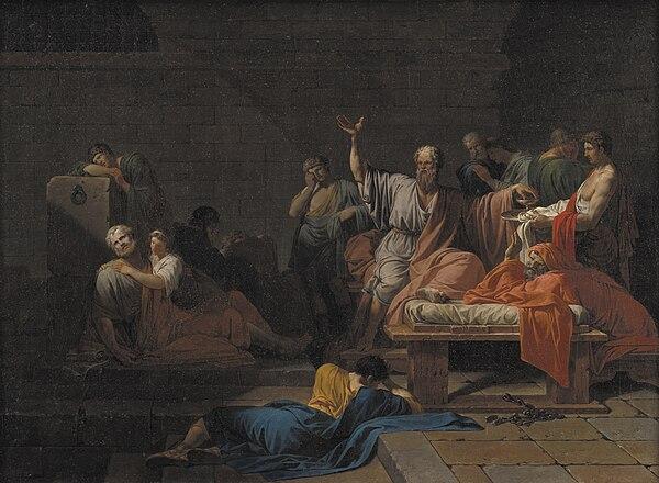 Sokrates kurz vor seinem Tod