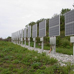 Solar power in Denmark - Solar panels on Hjelm island