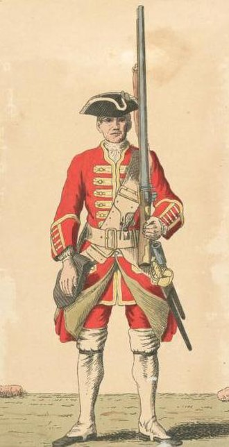 47th (Lancashire) Regiment of Foot - Soldier of 47th regiment, 1742