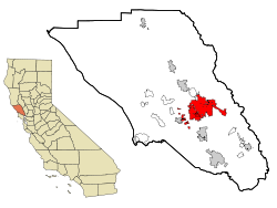 Sonoma County California Incorporated and Unincorporated areas Santa Rosa Highlighted.svg