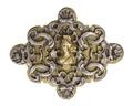 Spänne, del av, 1700-tal - Hallwylska museet - 110394.tif