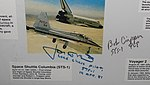Space Shuttle Columbia (STS-1) landing, signed by Jon McBride and Bob Crippen - Oregon Air and Space Museum - Eugene, Oregon - DSC09753.jpg