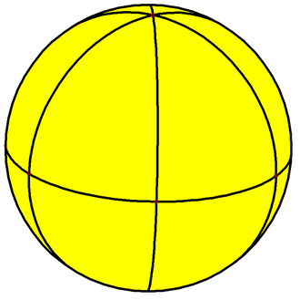 Hexagonal bipyramid - Image: Spherical hexagonal bipyramid