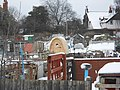 Springtime snow, Hill Road allotments, Birkenhead (4).JPG