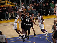 Photo of action during a w:San Antonio Spurs (...