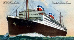 Ss manhattan 1931 united states line, Autor unbekannt, Public domain, via Wikimedia Commons