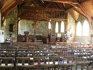 St Agnes' Church, Freshwater - The interior of the church.